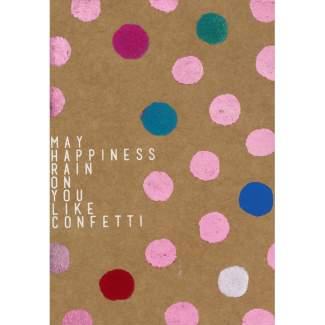 "Glanzstück Karte ""May happiness..."""