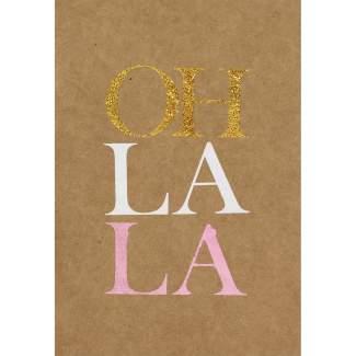 "Glanzstück Karte ""Oh lala"""