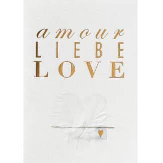 """Hochzeitsstoffkarte """"amour Liebe love"""""""