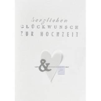 """Hochzeitsstoffkarte """"Herzlichen Glückwunsch"""""""