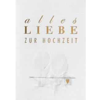 """Hochzeitsstoffkarte """"Alles Liebe zur Hochzeit"""""""