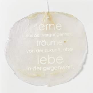 """Capizkarte """"Lerne aus der Vergangenheit"""""""