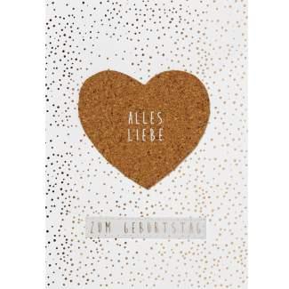 """Korkkarte """"Alles Liebe zum Geburtstag"""""""