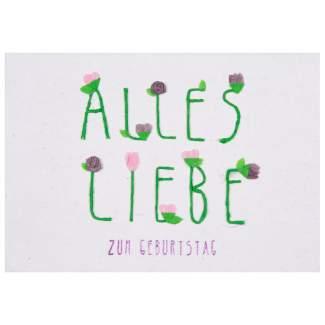 "Schriftkarte ""Alles Liebe"""