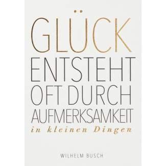 "Fanpostkarte ""Glück entsteht oft.."""