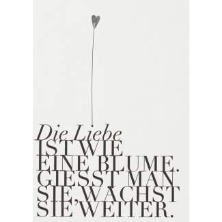 """Fanpostkarte """"Die Liebe ist wie eine Blume"""""""