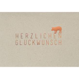 """Graupappen Geburtstagskarte """"Herzlichen Glückwunsch"""""""