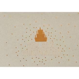 """Graupappen Geburtstagskarte """"Friede, Freude, Geburtstagskuchen"""""""