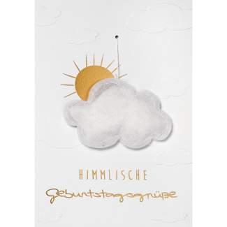 """Gazeanhänger Karte """"Himmlische Geburtstagsgrüße"""""""