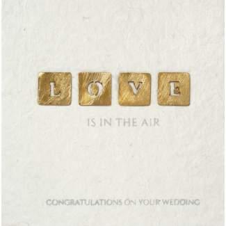 "Hochzeitsgruß ""Love is in the air"""