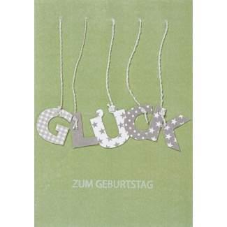 """Buchstaben Karte """"Glück"""""""