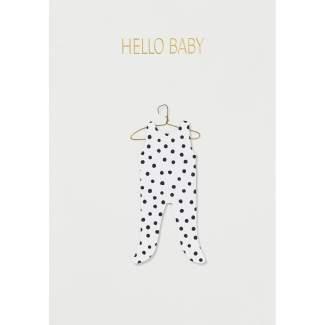 "Kleiderkarte ""Hello Baby"""