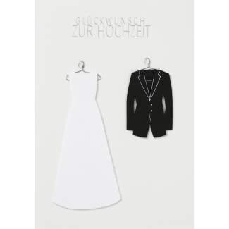 """Kleiderkarte """"Glückwunsch zur Hochzeit"""""""