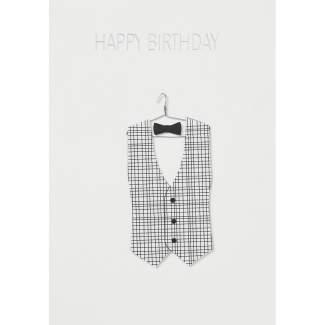 """Kleiderkarte """"Happy Birthday"""""""
