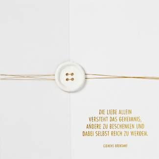 """Traumkarte """"Die Liebe allein..."""""""