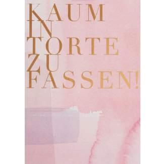 """Aquarell Postkarte """"Kaum in Torte zu fassen"""""""