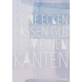 "Aquarell Postkarte ""Deine Ecken..."""