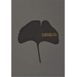 """Blätter Trauerkarte """"In Trauer und Verbundenheit"""""""