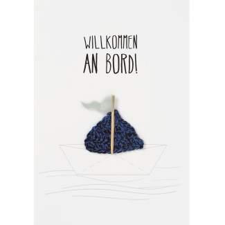 """Baby Willkommenskarte """"Willkommen an Bord"""""""