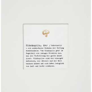 "Passepartout Karte ""Glückspilz"""