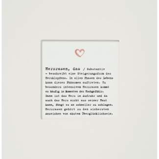 "Passepartout Karte ""Herzrasen"""