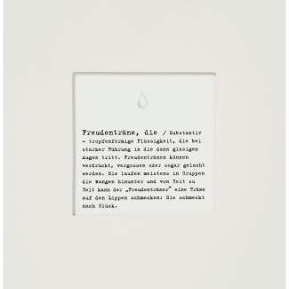 "Passepartout Karte ""Freudenträne"""