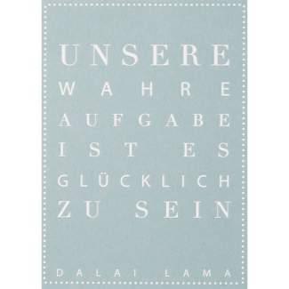 """Schriftpostkarte """"Unsere wahre Aufgabe..."""""""