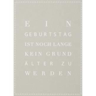 """Schriftpostkarte """"Ein Geburtstag ist..."""""""