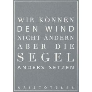 """Schriftpostkarte """"Wir können den Wind..."""""""