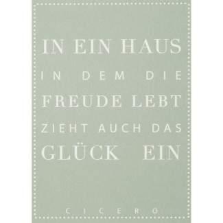 """Schriftpostkarte """"In ein Haus..."""""""
