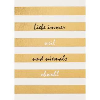 "Fanpostkarte ""Liebe immer..."""