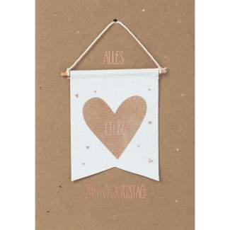 """Wimpelkarte """"Alles Liebe zum Geburtstag"""""""