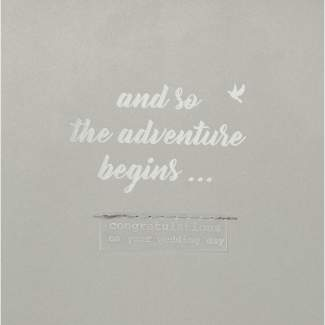 "Hochzeitskarte ""And so the adventure..."""