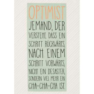"Motivations Postkarte ""Optimist"""
