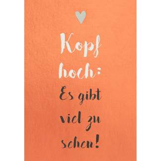 "Motivations Postkarte ""Kopf hoch"""