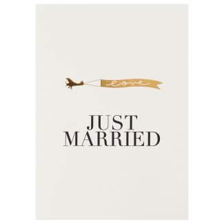 """Kleiner Gruß """"Just married"""""""