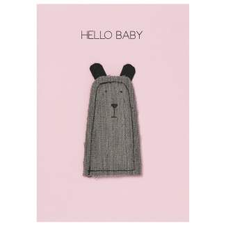 "Baby Kuschelkarte ""Hello Baby"""