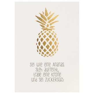 """Lieblingsmensch Postkarte """"Sei wie eine Ananas"""""""