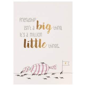 "Lieblingsmensch Postkarte ""Friendship is not a big..."""