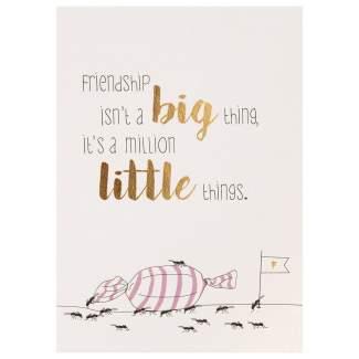 """Lieblingsmensch Postkarte """"Friendship is not a big..."""""""