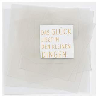 "Transparente Poesiekarte ""Glück"""