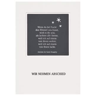 """Passepartout Trauerkarte """"Wir nehmen Abschied"""""""