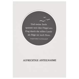 """Passepartout Trauerkarte """"Aufrichtige Anteilnahme"""""""