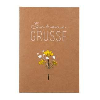 "Blumenkarte ""Schöne Grüße"""