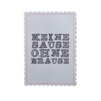 """Bunte Mischung Postkarte """"Keine Sause ohne Brause"""""""