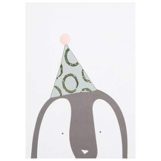 "Tierparty Postkarte ""Party Pinguin"""