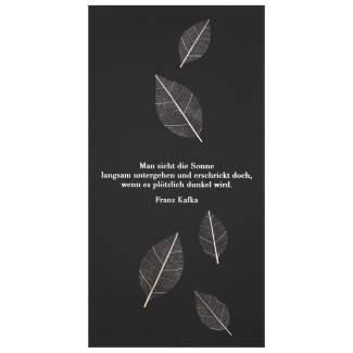 """Natur Trauerkarte """"Man sieht die Sonne"""""""
