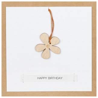 "Holzanhängerkarte ""Happy Birthday"""