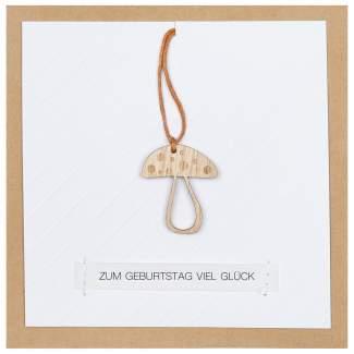 """Holzanhängerkarte """"Zum Geburtstag viel Glück"""""""