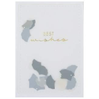 """Karte Leichtigkeit """"best wishes"""""""